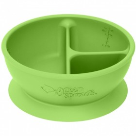 Green Sprouts - Silicone divided suction Learning Bowl - Green