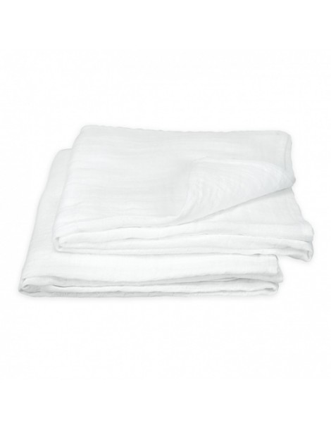 Green Sprouts - Muslin Swaddle Blanket organic cotton (2 pack) - White