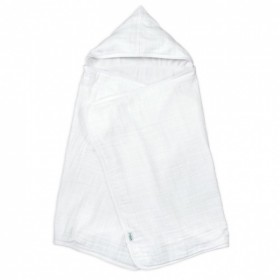 Green Sprouts - Muslin Hooded Towel Organic Cotton - White