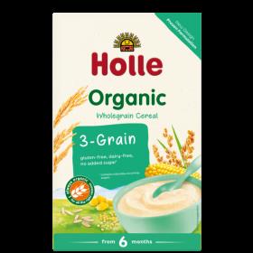Holle Organic 3-Grain Porridge 250g 6+M