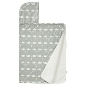 Fresk: Hooded towel 100% organic cotton-Whole grey