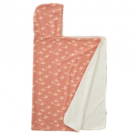 Fresk: Hooded towel 100% organic cotton- Birds