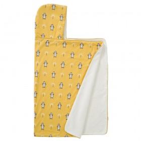 Fresk: Hooded towel 100% organic cotton-Penguin