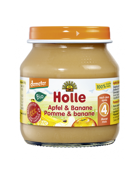 HOLLE APPLE & BANANA  125G 4+M