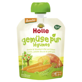 HOLLE ORGANIC POUCH CARROT & SWEET POTATO WITH PEAS   4+ 90G