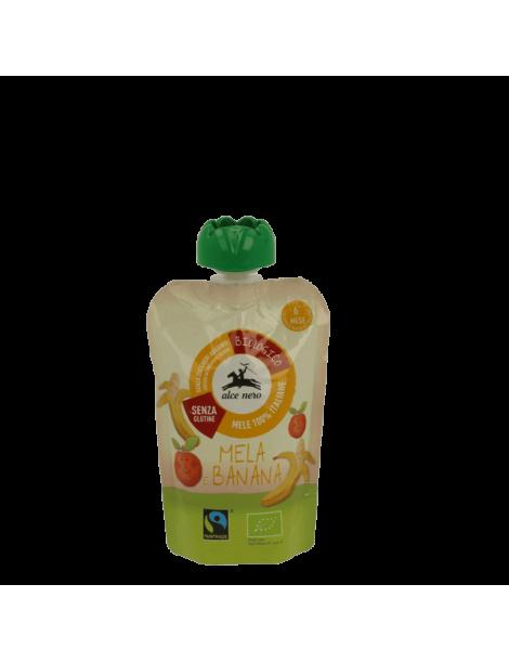 Alce Nero Organic Apple banana puree 6+m 100gr