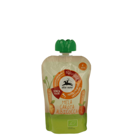 Alce Nero Organic carrot apple apricot puree 6+m100 gr