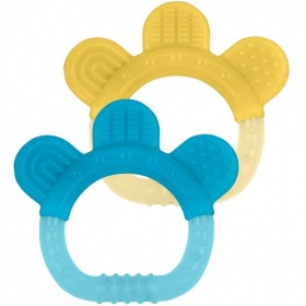 Green Sprouts - silicone teether (2 pack) - Sili Paw- Aqua & Yellow
