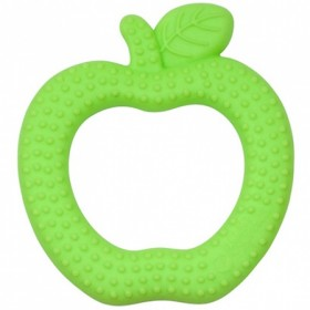 Green Sprouts - silicone Fruit Teether - Green Apple
