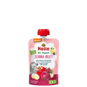 Holle Pouch apple & banana with beetroot 6+ 100gr