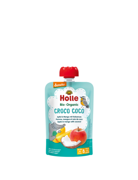 Holle Pouch apple & mango with coconut 8+m 100gr