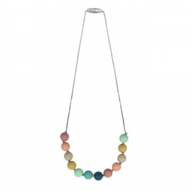 Itzy Ritzy Silicone Teething Necklace rainbow