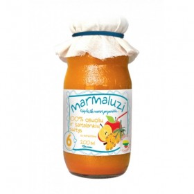 MARMALUZI Apple juice with sea buckthorn 100% from 6 months 200 ml