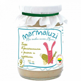 Marmaluzi Rabbit meat with rice and vegetables 190g from 8 months