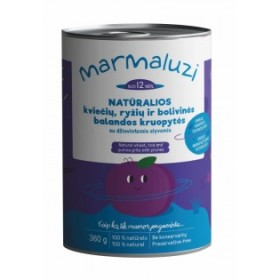 MARMALUZI Natural Wheat and Rice Groats with Quinoa and Prunes From 12 Months, 360 G