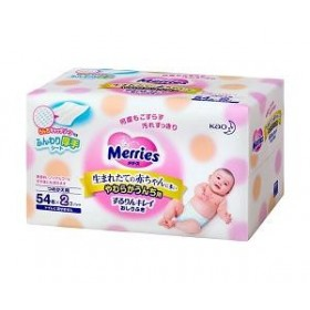 Merries wet tissues (refill) 54x2 pcs