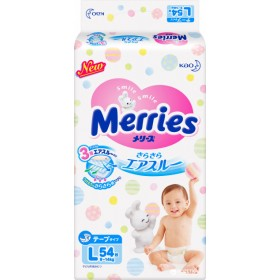 Merries L (9-14 kg) 54 pcs
