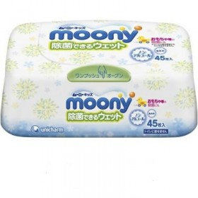 Moony wet tissues antibacterial (hard case)  45 pcs