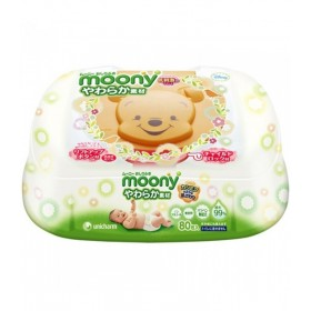 Moony wet tissues (hard case) 80 pcs
