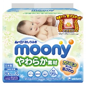 Moony wet tissues 80x3 pcs