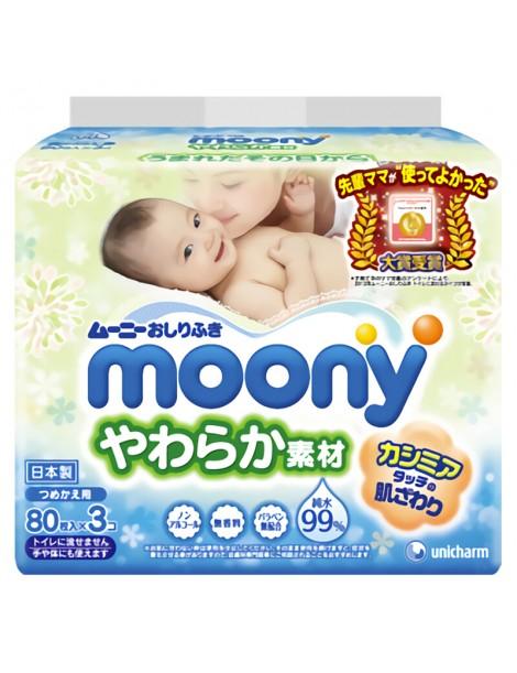 Moony wet tissues 80x3 pcs
