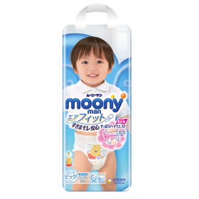 Moony pull-up nappies boys XL (12-22 kg) 38 pcs