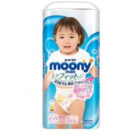 Moony pull-up nappies girls XL (12-22 kg) 38 pcs