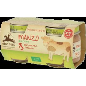 Alce Nero Organic beef baby food - 2 x 80g jar