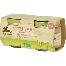 Alce Nero Organic veal baby food - 2 x 80g jar