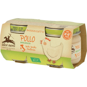 Alce Nero Organic chicken baby food - 2 x 80g jar
