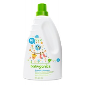 BabyGanics 3x Concentrated Laundry Detergent 1.77L Frag. Free