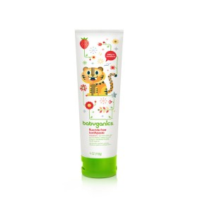 BabyGanics Fluoride Free Toothpaste 113g Strawberry