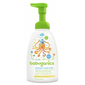 BabyGanics Foaming Shampoo & Body Wash 437ml FF