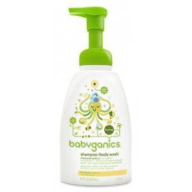BabyGanics Foaming Shampoo & Body Wash 437ml CV