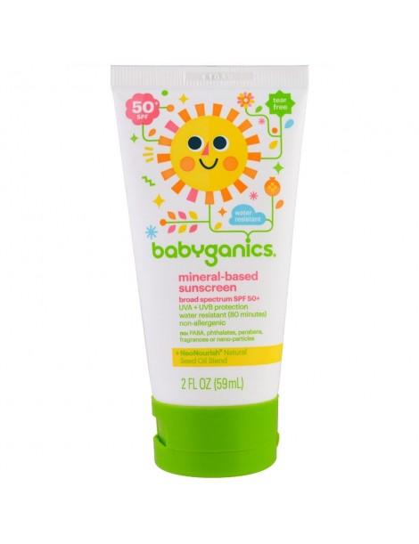 BabyGanics Mineral Based Sunscreen Lotion, SPF 50+, 59 ml