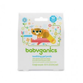 BabyGanics, Teething Gel Pods, 10 Single-Use Pods