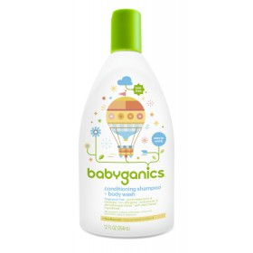 BabyGanics conditioning shampoo + bodywash 354 ml FF