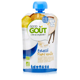 GOOD GOUT BREWED PEAR VANILLA YOGURT 90GR +6M