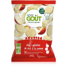 GOOD GOUT MINI RICE CAKES WITH APPLE 40GR +10M