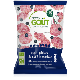 GOOD GOUT MINI RICE-CAKES WITH BLUEBERRY 40GR +10M