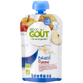 GOOD GOUT  BRASSE APPLE YOGHURT 90GR BIO +6M