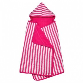 Green Sprouts - Muslin Hooded Towel Organic Cotton - Hot Pink