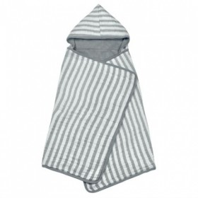 Green Sprouts - Muslin Hooded Towel Organic Cotton - Grey