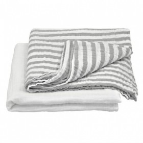 Green Sprouts - Muslin Swaddle Blanket Organic Cotton (2 pack) -Grey