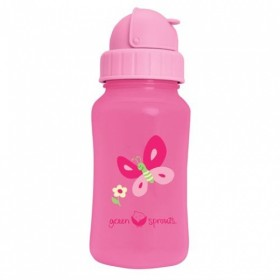 Green Sprouts - Straw Bottle - Pink Butterfly