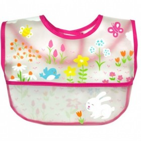 Green Sprouts - Wipe-off Bib - Pink Wildflowers