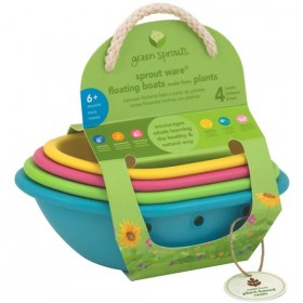 Green Sprouts - Sprout Ware Floating Boats made from Plants (4 pcs)
