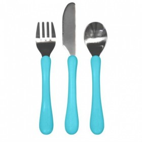 Green Sprouts - Learning Cutlery Set-Aqua