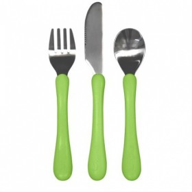 Green Sprouts - Learning Cutlery Set-Green