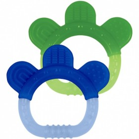 Green Sprouts - Silicone Teether (2 pack) - Sili Paw-Green&Blue